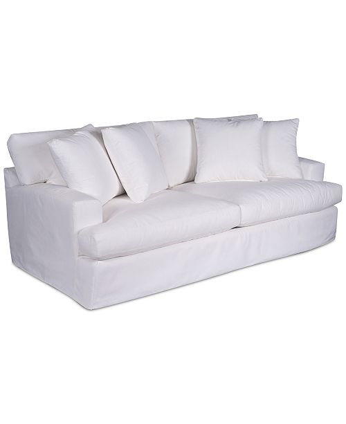 Brenalee 93 Performance Fabric Slipcover Sofa