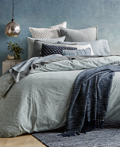 CLOSEOUT! Lucky Brand Santa Fe Stripe Reversible Full/Queen Comforter Set, Created for Macy's