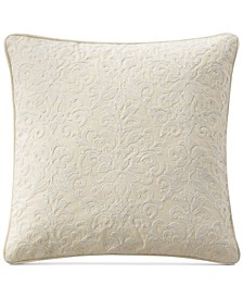 """Charlize Embroidered Gray 18"""" Square Decorative Pillow"""