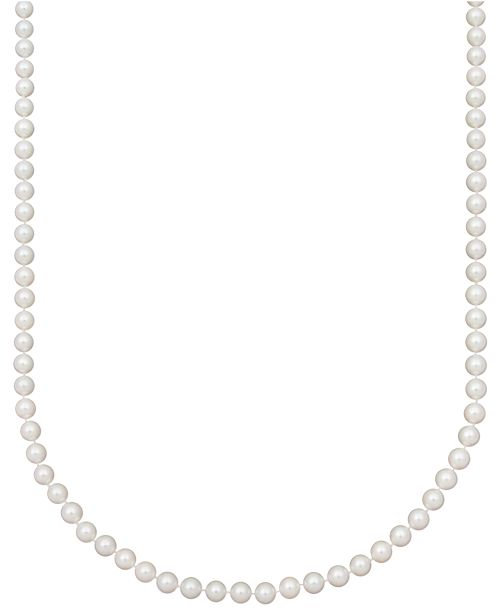 """Belle de Mer Pearl Necklace, 18"""" 14k Gold AA Akoya Cultured Pearl Strand (6-6-1/2mm)"""