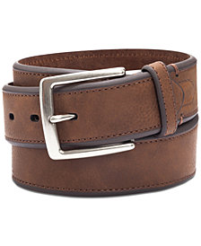 Club Room Men's Bevel-Edge Casual Belt, Created for Macy's