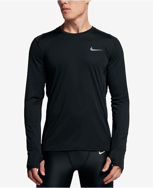 bb460590 Nike Men's Dry Miler Long-Sleeve Running Top & Reviews - T-Shirts ...
