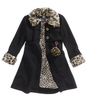 Pink & Violet 2-Pc. Animal-Print Dress & Coat Set, Toddler Girls (2T-4T) & Little Girls (4-6X) 4848232