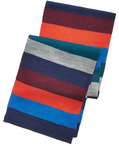 Club Room Men's Collegiate Striped Scarf, Created for Macy's