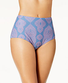 Raisins Majorelle High-Waist Cheeky Strappy Bikini Bottoms, Created for Macy's