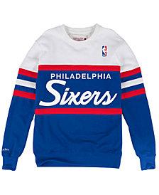 Mitchell & Ness Men's Philadelphia 76ers Head Coach Crew Sweatshirt