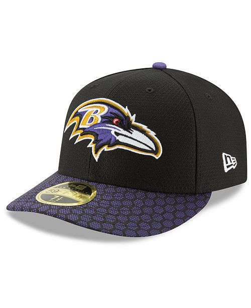 39f47713e14 New Era Baltimore Ravens Sideline Low Profile 59FIFTY Fitted Cap ...