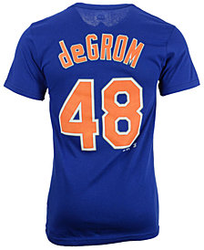 Majestic Men's Jacob deGrom New York Mets Official Player 3XL-4XL T-Shirt