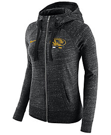 Nike Women's Missouri Tigers Gym Vintage Full-Zip Hoodie