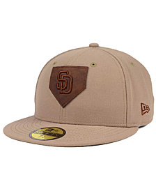 New Era San Diego Padres The Logo of Leather 59FIFTY Fitted Cap