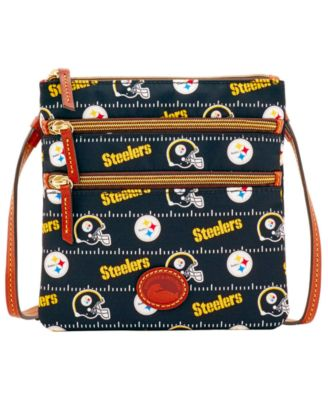 Pittsburgh Steelers Nylon Triple Zip Crossbody