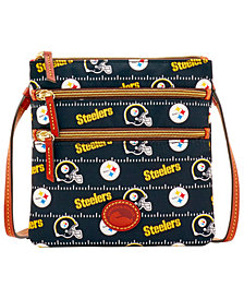 Dooney & Bourke Pittsburgh Steelers Nylon Triple Zip Crossbody