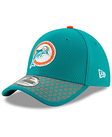 New Era Boys' Miami Dolphins 2017 Official Sideline 39THIRTY Cap