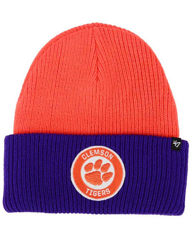 '47 Brand Clemson Tigers Ice Block Knit Hat