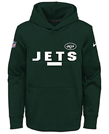 Nike New York Jets Pullover Therma Hoodie, Big Boys (8-20)