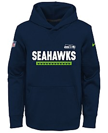 Nike Seattle Seahawks Pullover Therma Hoodie, Big Boys (8-20)
