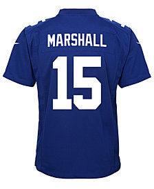 Nike Brandon Marshall New York Giants Game Jersey, Big Boys (8-20)