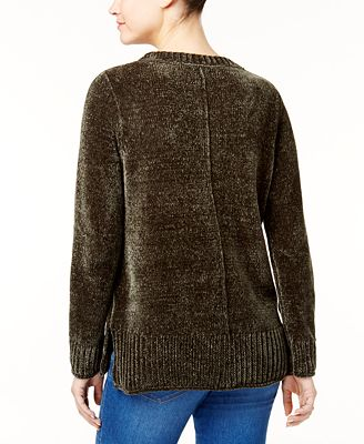 Style Co Petite Chenille Sweater Created For Macys Sweaters