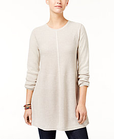Style & Co Petite Mixed-Stitch Tunic Sweater, Created for Macy's