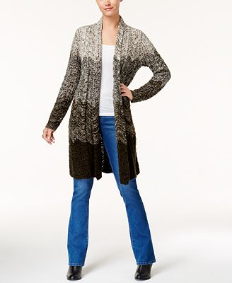 Style & Co Ombré Duster Cardigan, Created for Macy's - Sweaters ...