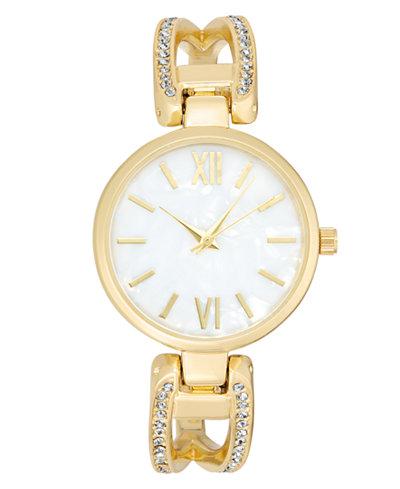 Charter Club Women's Gold-Tone Bracelet Watch 32mm, Created for Macy's