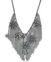 I.N.C. Hematite-Tone Crystal Starburst Fringe Statement Necklace, Created for Macy's