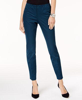 Alfani Petite Printed Ankle Pants, Created for Macy's