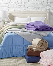 Lightweight Microfiber Color Down Alternative Comforters, Hypoallergenic Polyester Fiberfill