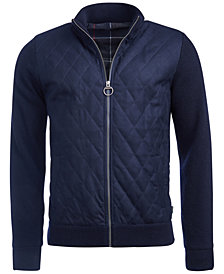 Barbour Men's Culzean Quilted Full-Zip Sweater