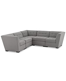 "Roxanne II Performance Fabric 5-Pc. ""L"" Modular Sofa, Created for Macy's"