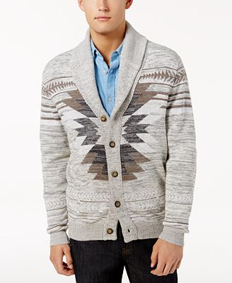 American Rag Men's Southwest Cardigan Sweater, Created for Macy's ...
