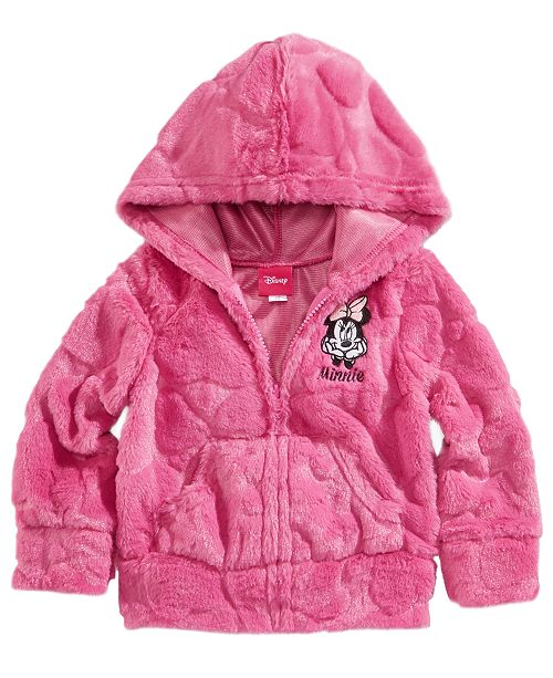 145e34be5 Minnie Mouse Disney's® Zip-Up Hoodie, Baby Girls & Reviews ...