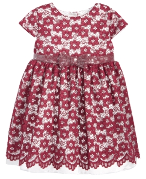 Kids 1950s Clothing & Costumes: Girls, Boys, Toddlers Penelope Mack Lace Sequin-Bow Dress Baby Girls 0-24 months $14.99 AT vintagedancer.com