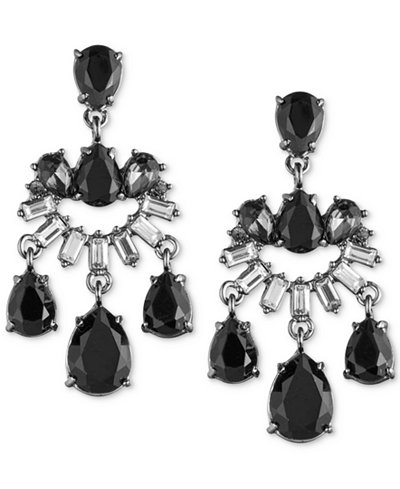 Carolee Two-Tone Multi-Stone Chandelier Earrings