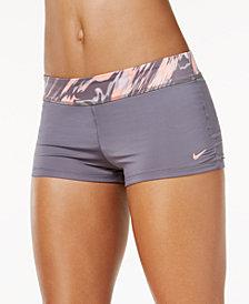 Nike Marble-Print Swim Boyshorts
