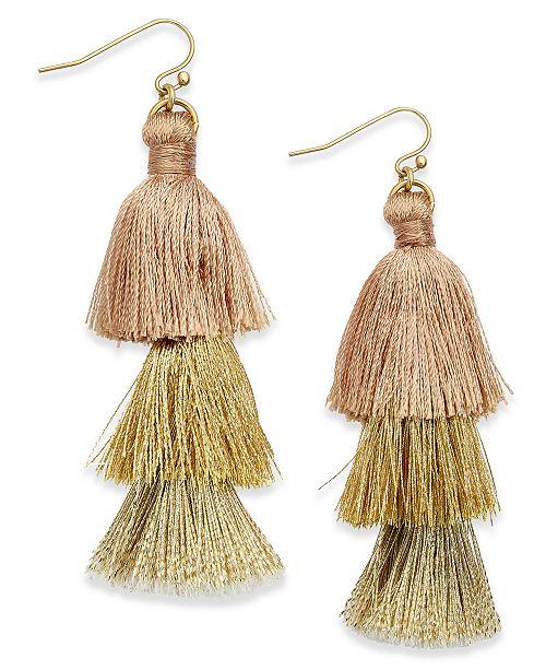 INC International Concepts I.N.C. Ombré Tassel Drop Earrings, Created for Macy's