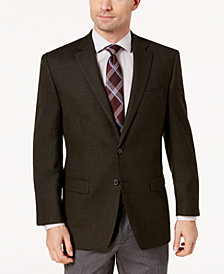 Lauren Ralph Lauren Men's Slim-Fit Olive Mini-Grid Wool Sport Coat