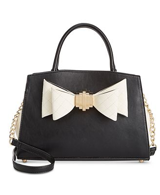 Betsey Johnson Quilted Bow Medium Satchel, Created for Macy's