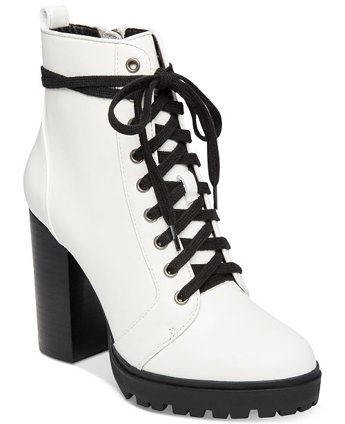 5ad1b7f00 Steve Madden Women's Laurie Platform Lace-Up Booties & Reviews ...