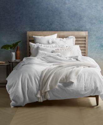 Ventura Waffle Cotton 2-Pc. Twin Duvet Cover Set, Created for Macy's