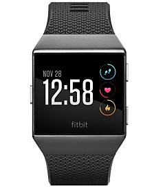 Fitbit Unisex Ionic Smoke Gray Elastomer Strap Smart Watch 35mmx32mm