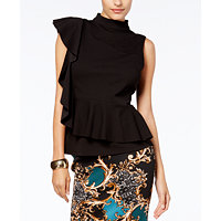 Thalia Sodi Womens Ruffled Peplum Top