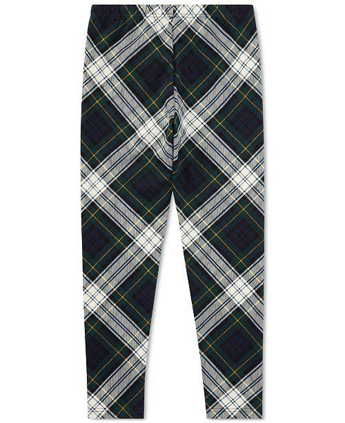 Polo Ralph Lauren Ralph Lauren Plaid Leggings, Big Girls (7-16)