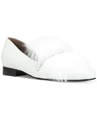 Donald J Pliner Lilian Fur Loafer Flats