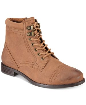 White Mountain Tifton Combat Boots, Created for Macy's Women's Shoes 5133106