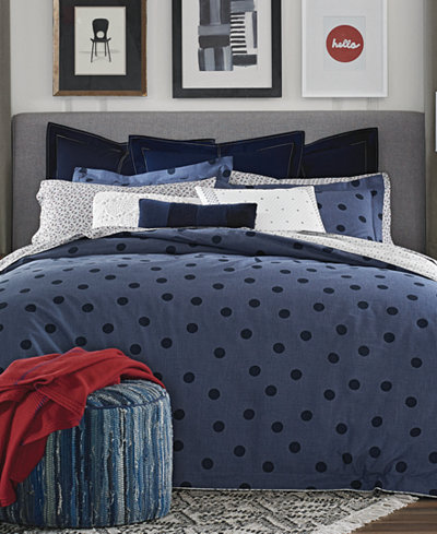 Tommy Hilfiger Olympia Dot Reversible 3-Pc. Full/Queen Comforter Set
