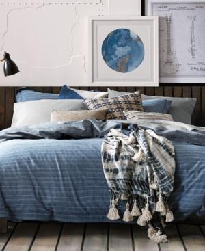 Tommy Hilfiger Hilfiger Blues Railroad Stripe 2Pc Twin Comforter Set Bedding