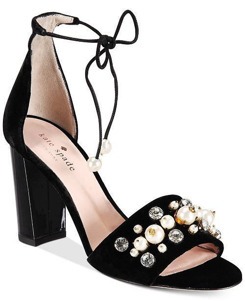 fe0689c0b478 kate spade new york. Iverna Pearl-Studded Open-Toe Pumps. 2 reviews
