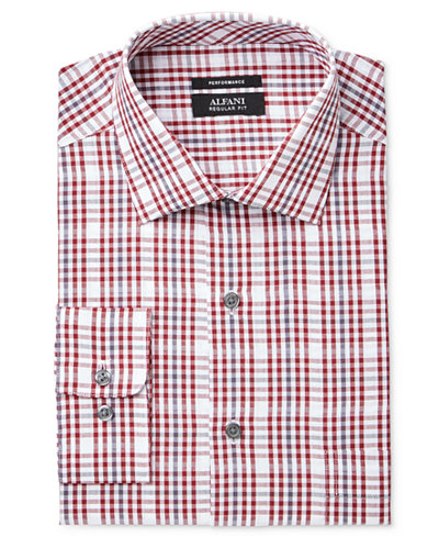 Alfani Men's Classic Fit Performance Stretch Easy-Care Dress Shirt, Created for Macy's