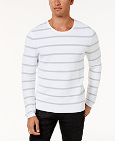 I.N.C. Men's Textured Striped Sweater, Created for Macy's